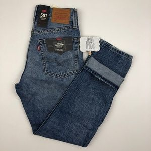 NWT LEvi's 501 Cropped Selvedge Hem Jeans